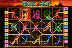 Book Of Ra linee di pagamento